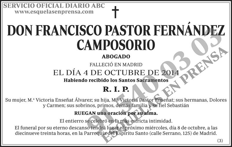 Francisco Pastor Fernández Camposorio